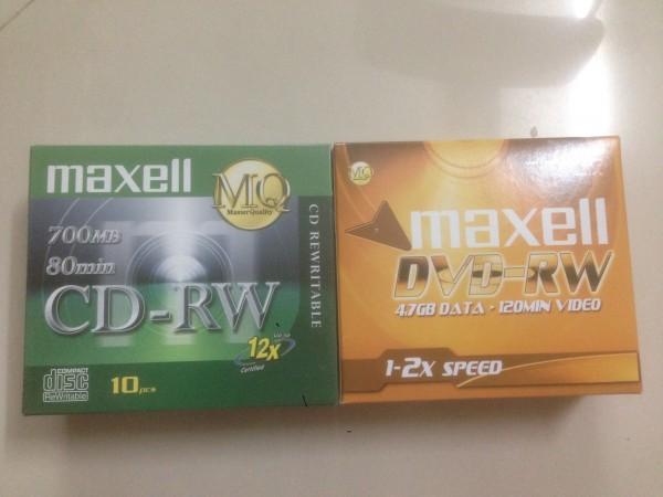 Đĩa DVD RW Maxell ghi xóa nhiều lần