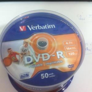 DVD-R Verbatim in phun, printable
