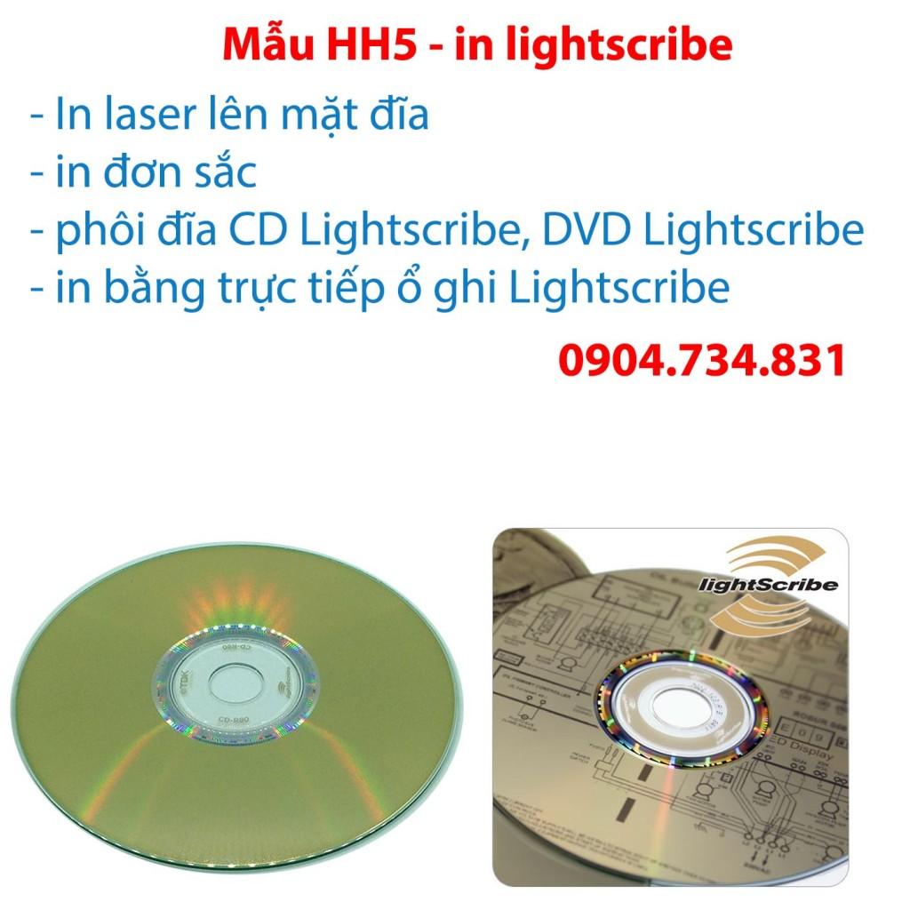 Dịch vụ in nhãn đĩa lightscribe