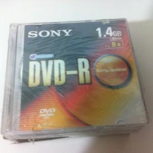 DVD Sony mini, dung lượng 1.4GB, kích thước 7,8cm