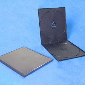 Vỏ đĩa nhựa đen, black single double pp cd case