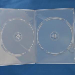 Vỏ hộp đĩa DVD nhựa trong, dvd case clear double