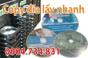 Dịch vụ in sao đĩa, copy đĩa lấy nhanh