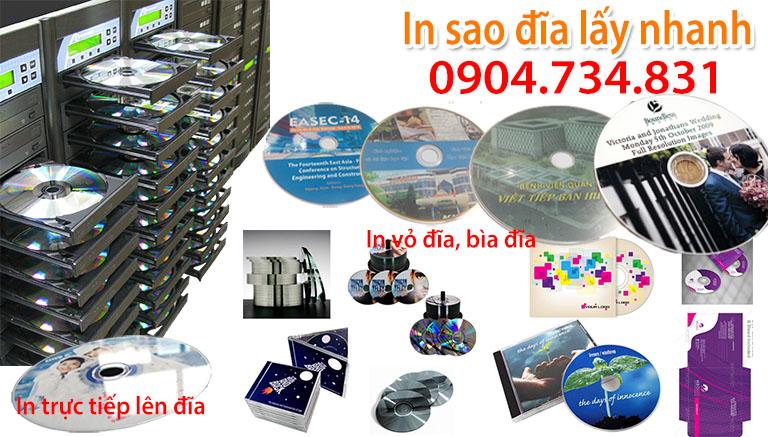 in sao đĩa CD DVD, in vỏ đĩa, in bìa hộp vỏ đĩa tại Hà Nội